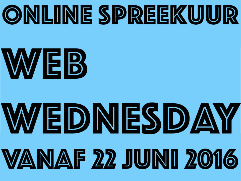 ComBron Communicatie start online spreekuur Web Wednesday
